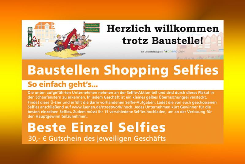Baustellen-Shopping-Selfie-Aktion