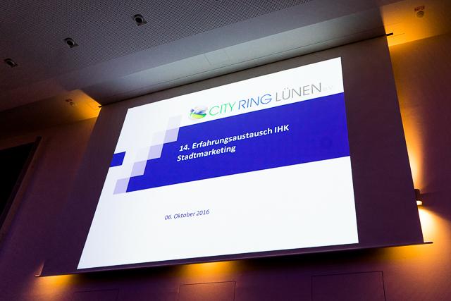 Vorstellung des CITY RING LÜNEN in der IHK zu Dortmund (6.10.2016)