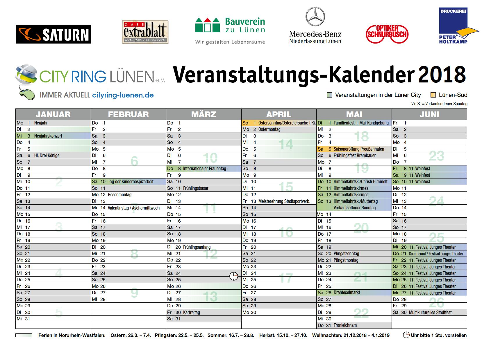 CITY RING Kalender 2018