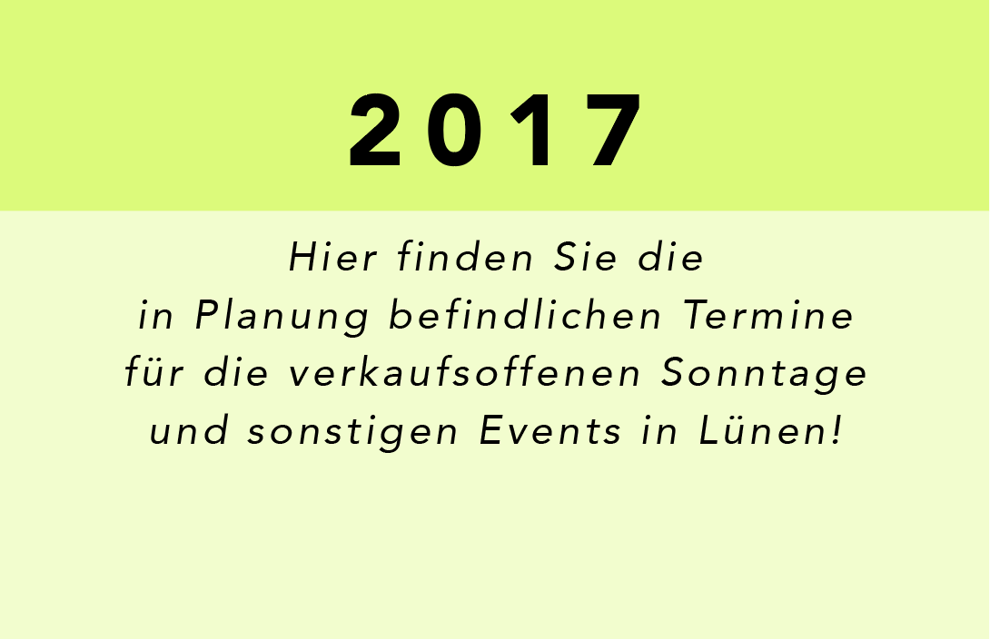 Vorschau für 2017